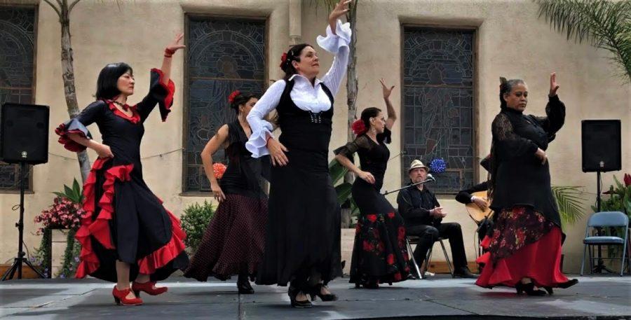 Flamenco group, Mojacar, performing at the Flamenco Feria in Los Alamitos.