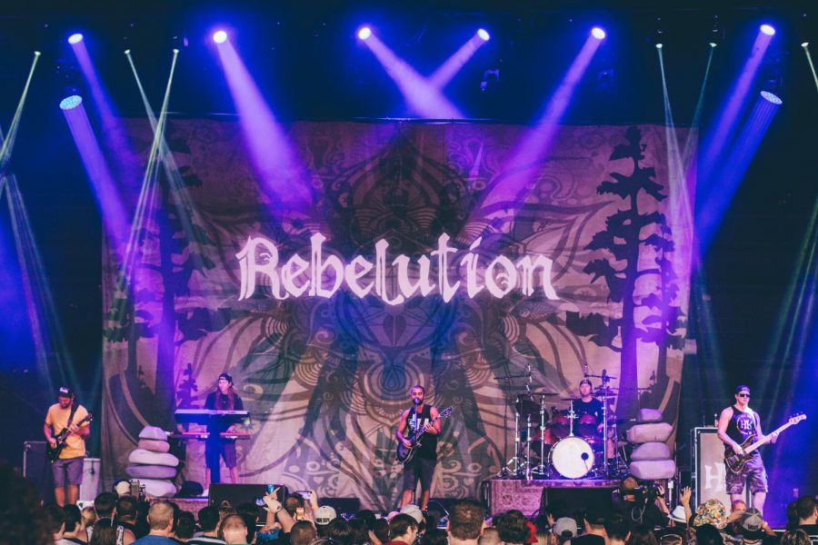 Rebelution performs live to a packed audience on July 23. 2014.