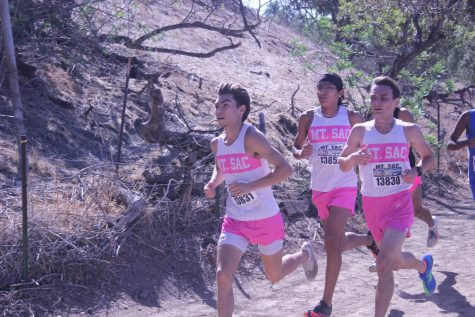 Mt. SAC runners leading the pack on Oct. 15.