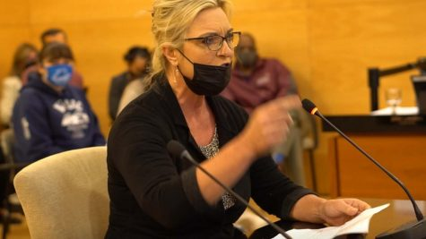 Adult Basic Education Professor Donna Necke spoke passionately at the Mt. SAC Board of Trustees meeting on Oct. 13 about how her students could not just go online with their home life and technological struggles.