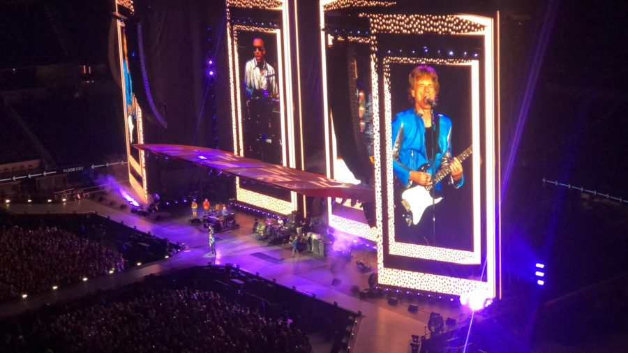 Mick Jagger performs Miss You at SoFi Stadium on Oct. 14.